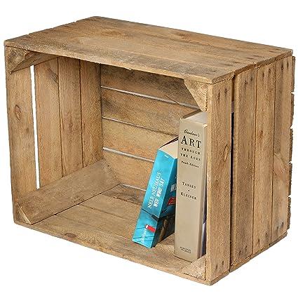 Caja de fruta para decoración (madera), diseño de mesita o estante