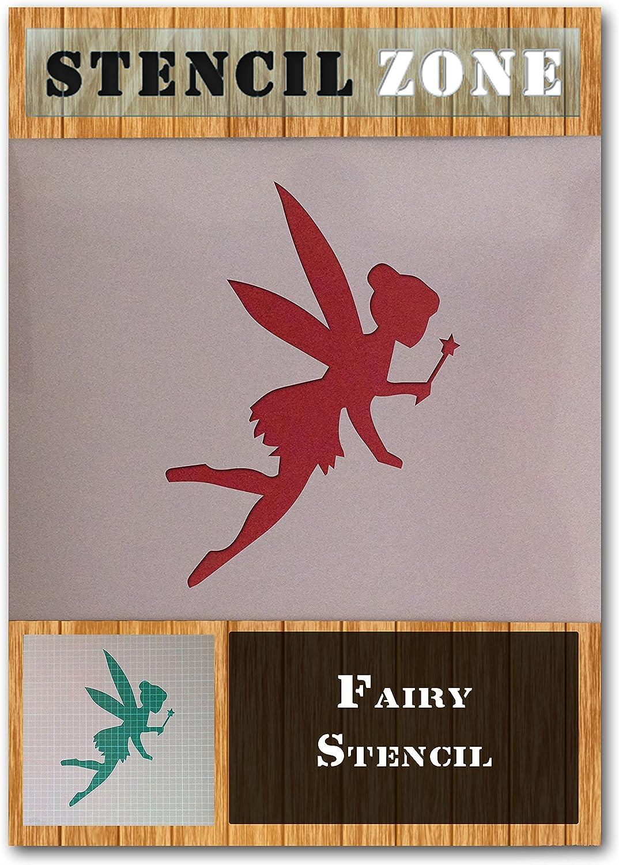 A1 Tama/ño de la plantilla - Xlarge Forma Hada m/ágica m/ística Mylar aer/ógrafo pintura mural de arte plantilla de tres