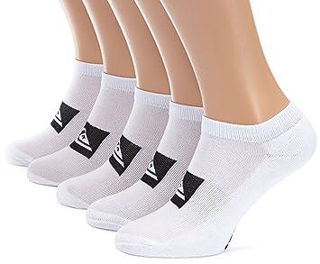 Quiksilver Legacy - Calcetines tobilleros para hombre (5 pares) blanco blanco Talla:M (6-9): Amazon.es: Deportes y aire libre