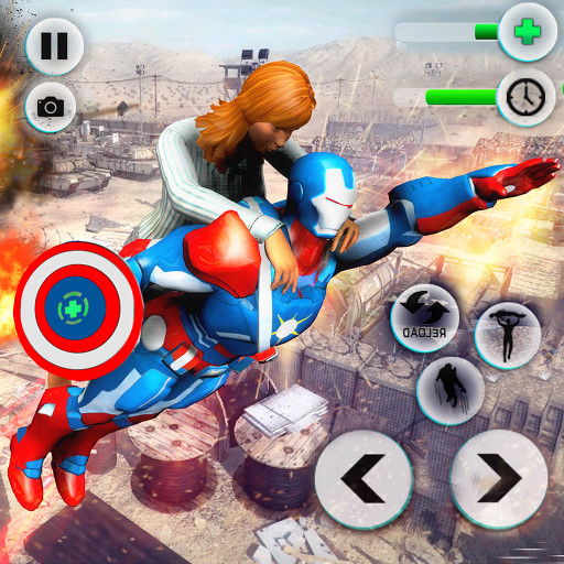 Flying Robot Captain Superhero City Survival Battle for $<!--$0.00-->
