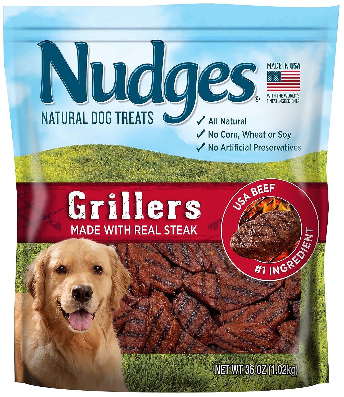 36 oz Nudges Steak Grillers Dog Treats, 36 Oz