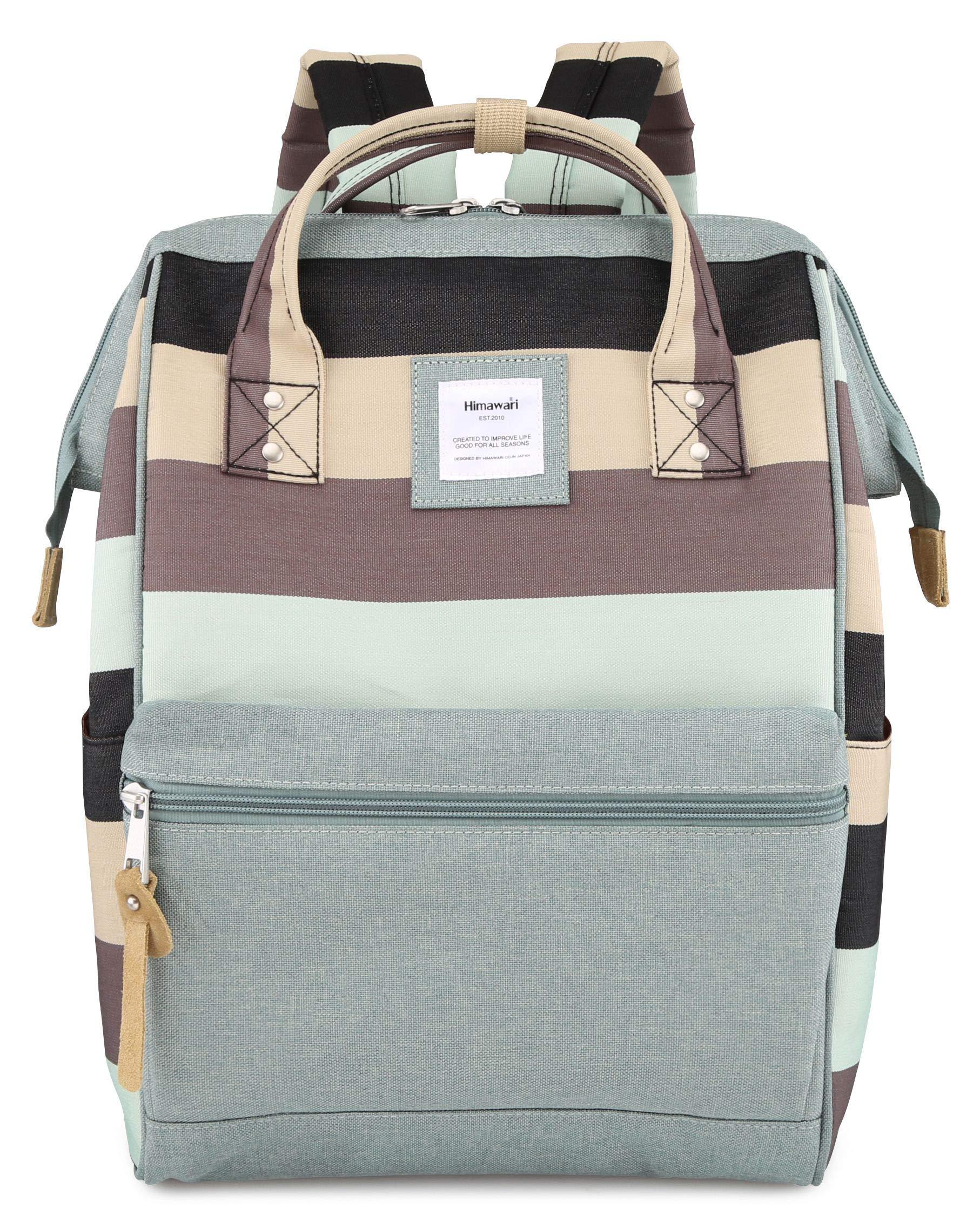 Himawari School Travel Backpack with USB Port 16 Inch Waterproof Doctor Work Diaper Bag for Women Men College Boys Girls, Regular(USB L- TWL) by himawari