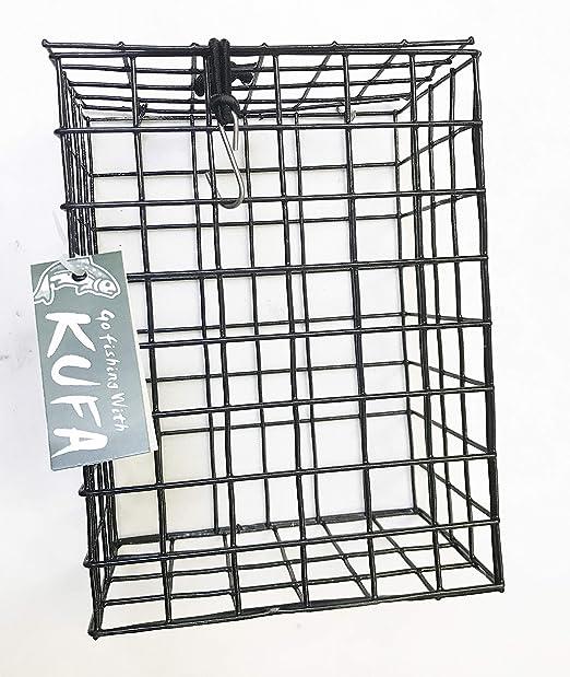 "KUFA Vinyl Coated Wire Bait Cage (Size:8""x6""x4"") 27-092"