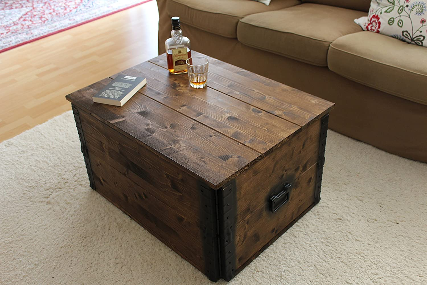 Tables Uncle Joes´s Wooden Chest in Brown in Vintage Style Shabby