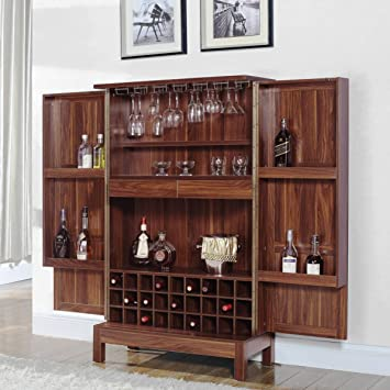 A Line Furniture Wine Storage Bar Armoire Cabinet