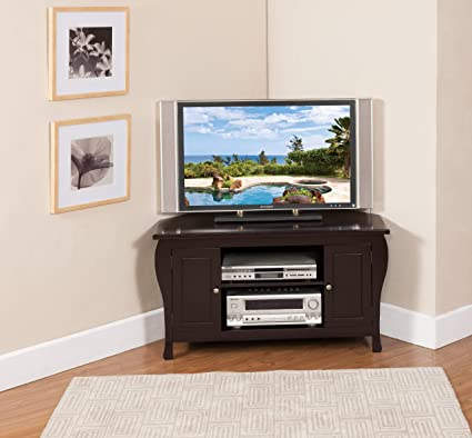 first rate d42ca 3f483 Kings Brand Espresso Finish Wood Corner TV Stand ...