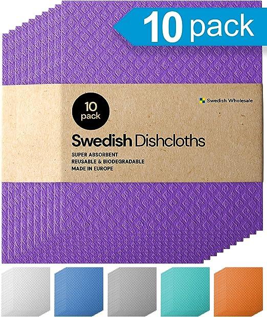 6 Pack Dishcloth Sponge Cloths Eco-Friendly No Odor Reusable for Kitchen