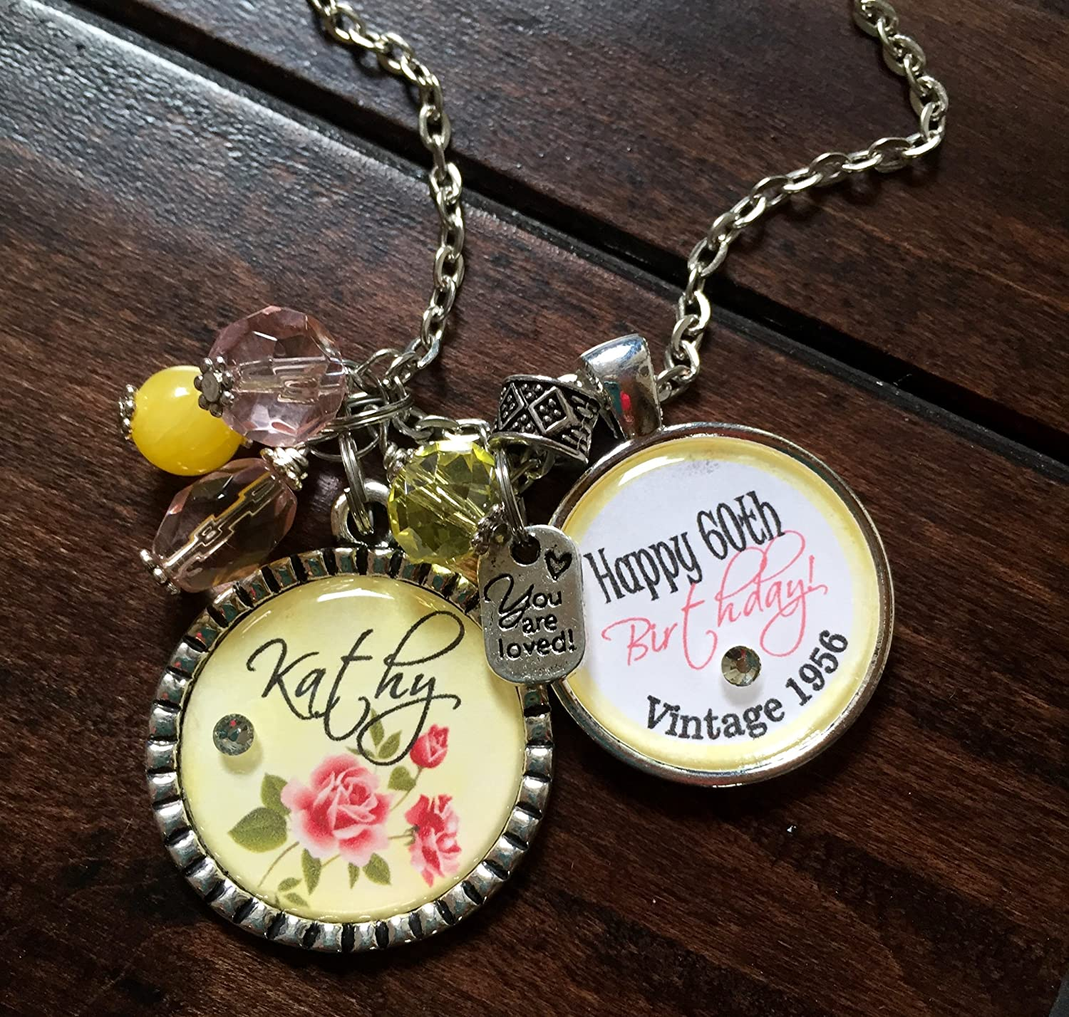 Amazon Personalized Birthday Gift Happy 60th With Name Friend Mother Sister Aunt Daughter 20th 30th 40th 50th Milestone