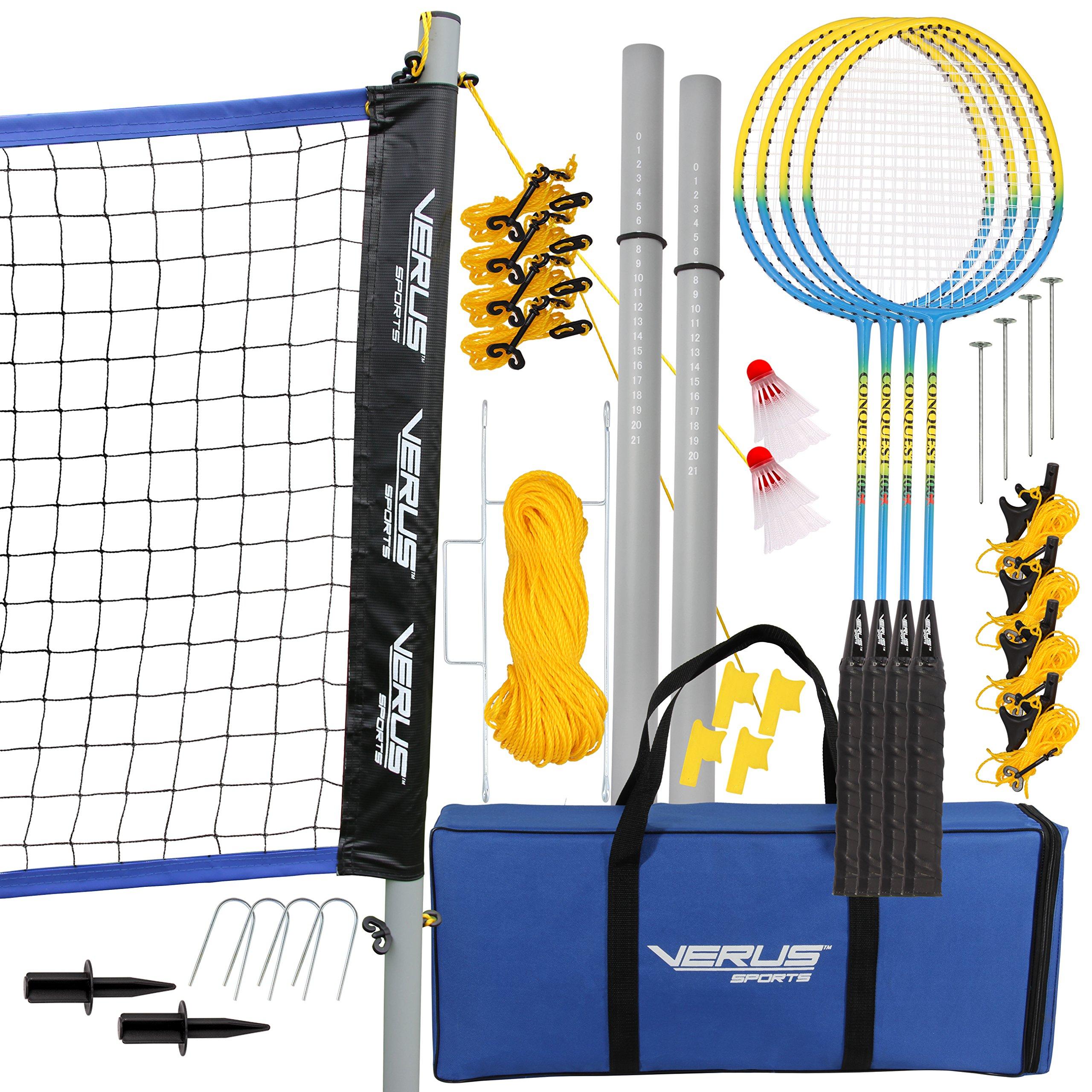 Verus Sports BM700 Expert Badminton Set, Blue