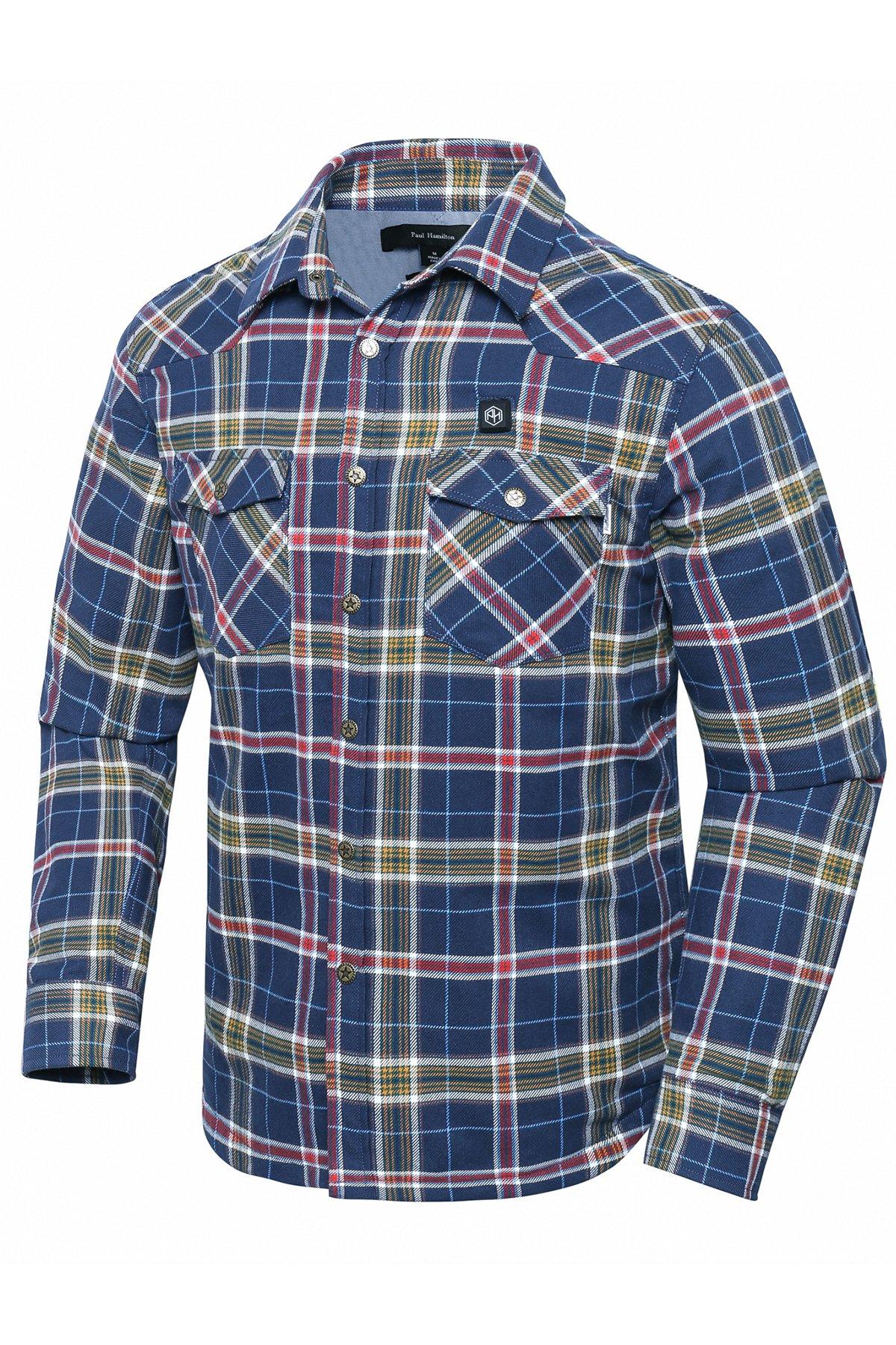 Pau1Hami1ton PJ-02 Men's Heated Jacket Heated Jackets for Men(M, Blue) by Pau1Hami1ton