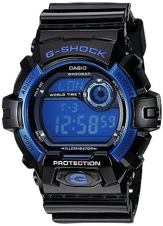 4e80b92eccef Amazon.com  Casio Men s G8900A-1CR G-Shock Black and Blue Resin Digital  Sport Watch  Casio  Watches