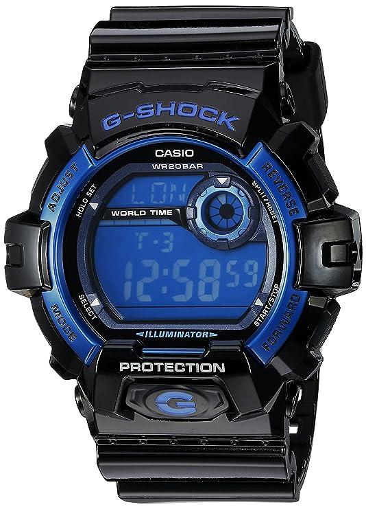 ac8c9ff7ce75 Reloj deportivo resistente a los golpes con esfera negra y azul
