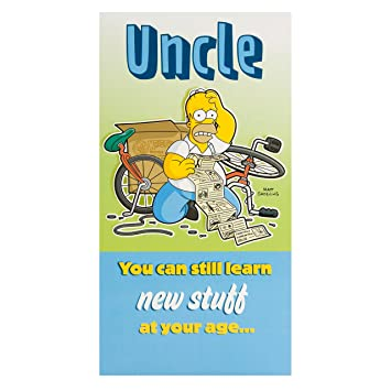 Amazon Hallmark The Simpsons Homer Simpson Uncle Birthday