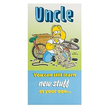 Hallmark Simpsons Uncle Birthday Card Homer Medium Amazonco
