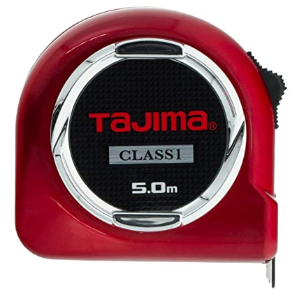 "Tajima H1550MW Class 1""Hi Lock Measuring Tape, Red, 5 m x 25 mm"
