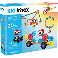 Kid K'Nex Zoomin' Rides Building Set for Ages 3 and Up, Preschool Educational Toy, 64 Pieces