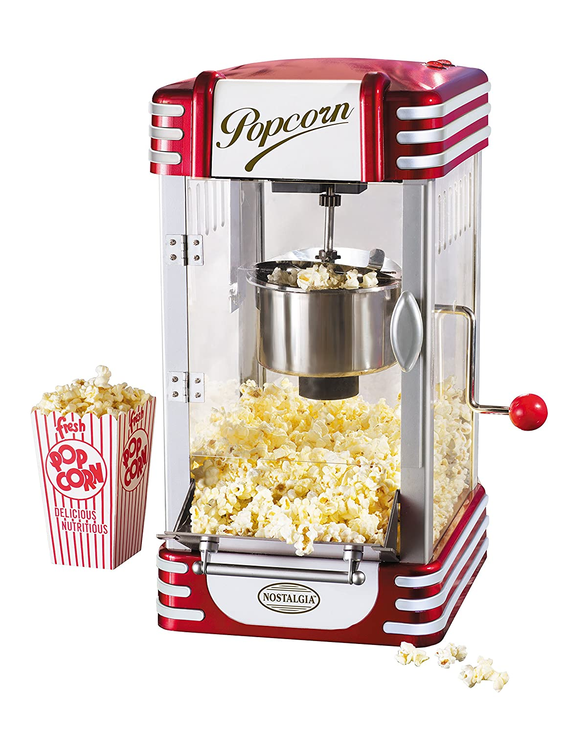 Nostalgia RKP630 Retro Kettle Popcorn Maker, Red EMGD9