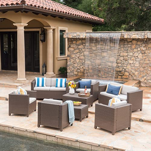 Christopher Knight Home Puerta Outdoor Wicker Chat Set