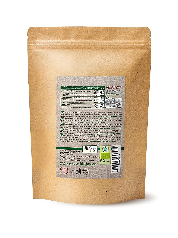 Biojoy Nueces peladas Ecologico | 100% calidad Premium BIO | cultivo controlado | Juglans regia 2018 (0,5 kg Mitades: Amazon.es: Alimentación y bebidas