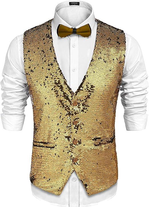 Sequins Men New Mens Carnival Costume Free XL Purple Men/'s Sequin Vest