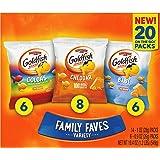 Pepperidge Farm Goldfish Family Faves Variety Pack Box, 20-count Snack Packs