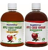 HealthViva Apple Cider Vinegar - 500 ml with Apple Cider Vinegar - 500 ml (Honey)