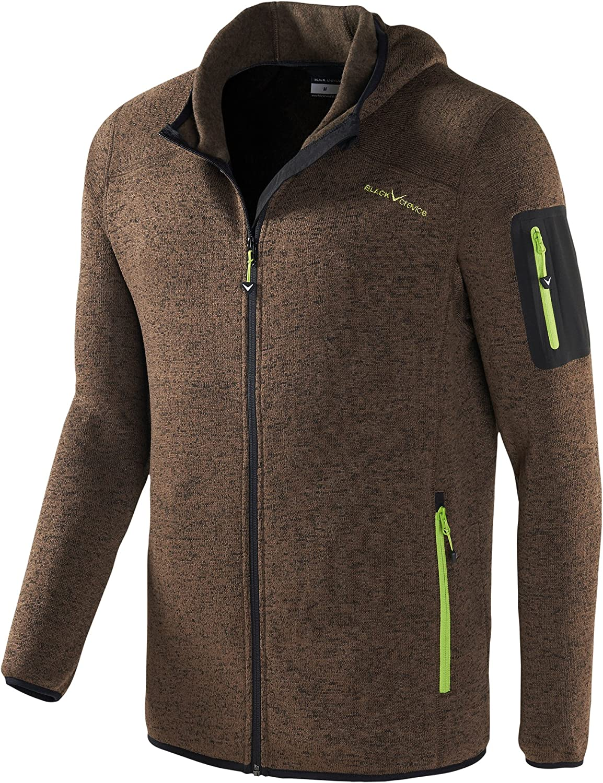 Black Crevice Mens Fleece Jacket
