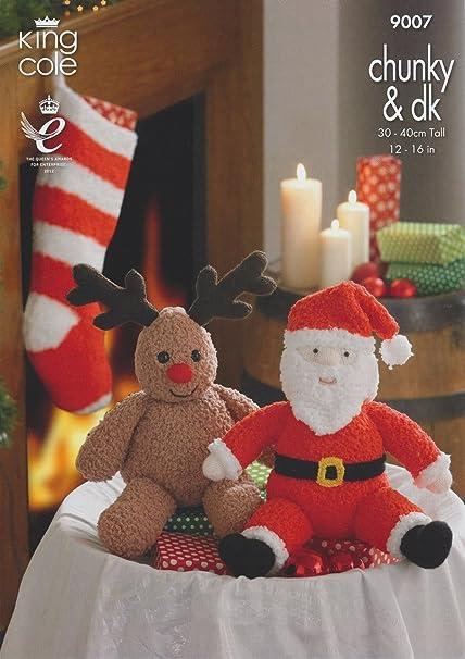 Amazon King Cole Dk Cuddles Christmas Knitting Pattern Santa
