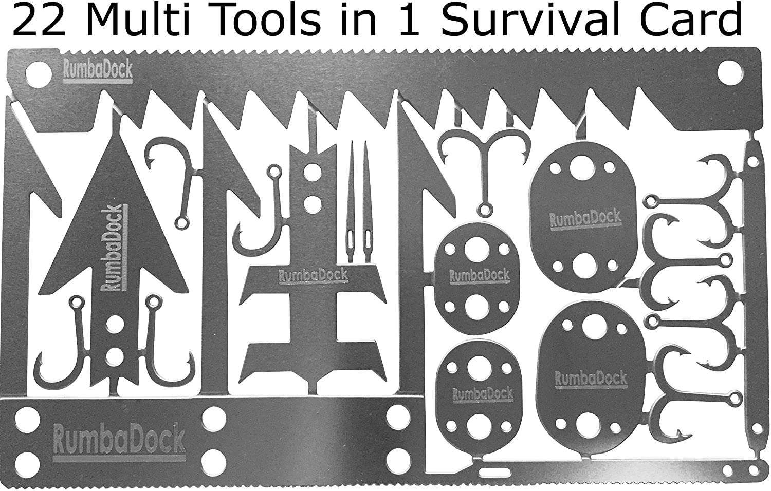 Survival MultiTool Card 3 TOOL PACK Bug Out Bag CampingTool 3 Best Multi tools for Camping and Wilderness Survival Preppers Gear Fishing Camping Hiking Hunting Emergency Kit Lifetime Guarantee