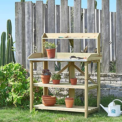 Enjoyable Amazon Com Kealive Outdoor Garden Potting Bench Work Gmtry Best Dining Table And Chair Ideas Images Gmtryco
