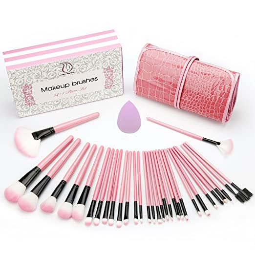Start Makers' Pink Makeup Brush kit