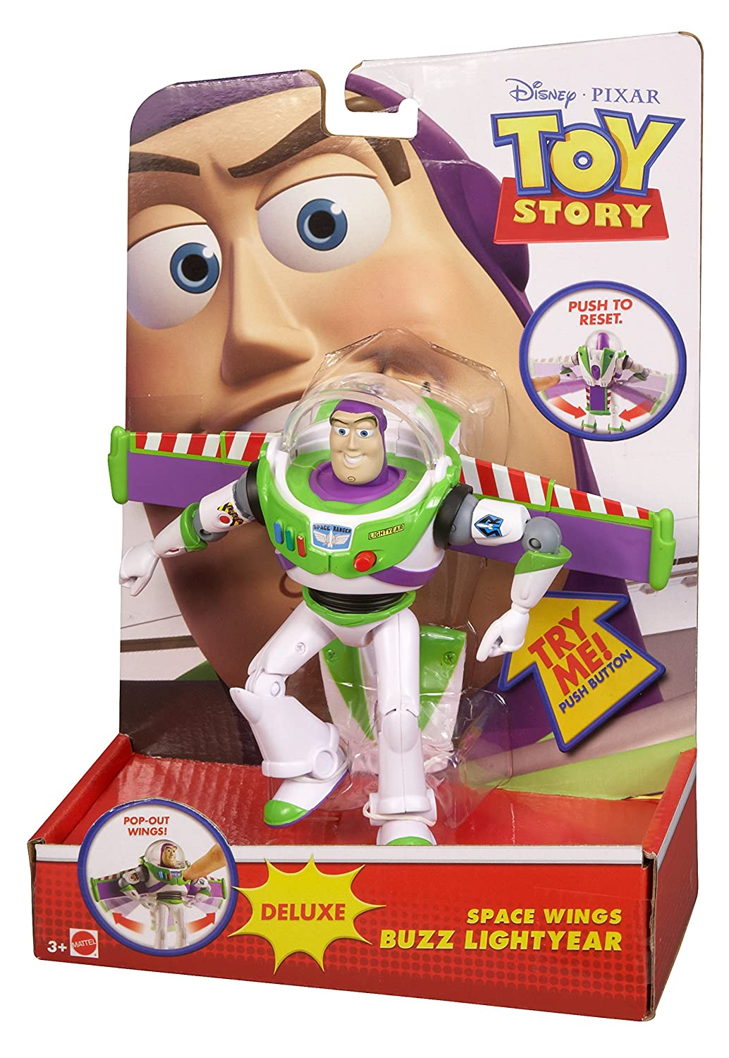 1ee54cf27cb Toy Story Space Wings Buzz Lightyear Deluxe Figure  Amazon.co.uk  Toys    Games