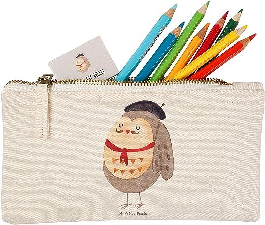 Mr. & Mrs. Panda S Maquillaje búho Francés – 100% Handmade – Búho, búho, búhos, Owl, Hibou, la Vie Est Belle, la vida es bella, texto en alemán schön, Alemán, Francés Francia