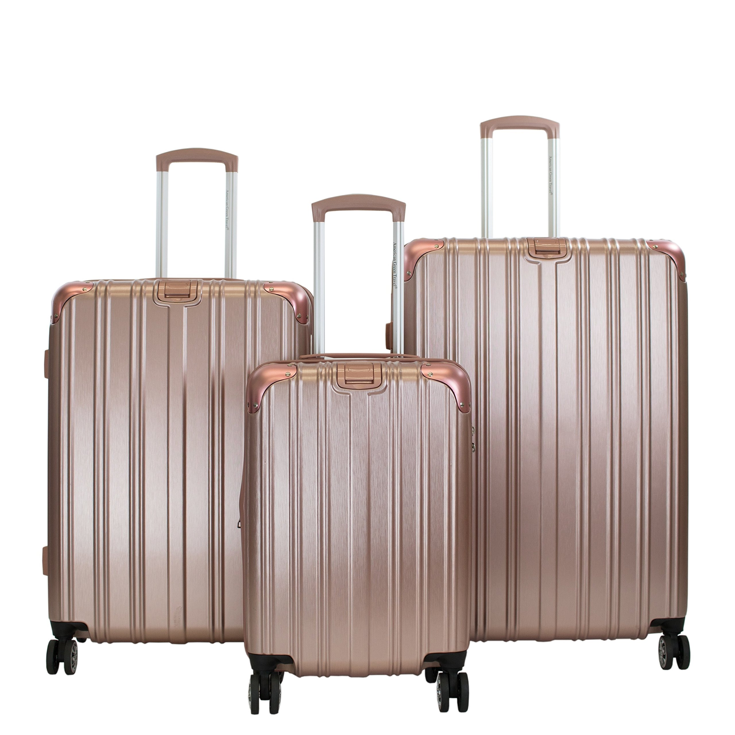 American Green Travel Melrose II 3-piece Hardside Spinner Luggage Set Grey by American Green Travel