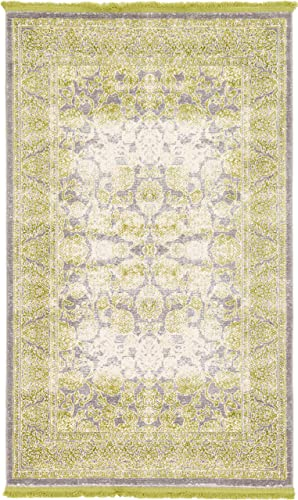 Unique Loom New Classical Collection Traditional Distressed Vintage Classic Light Green Area Rug 3 3 x 5 3