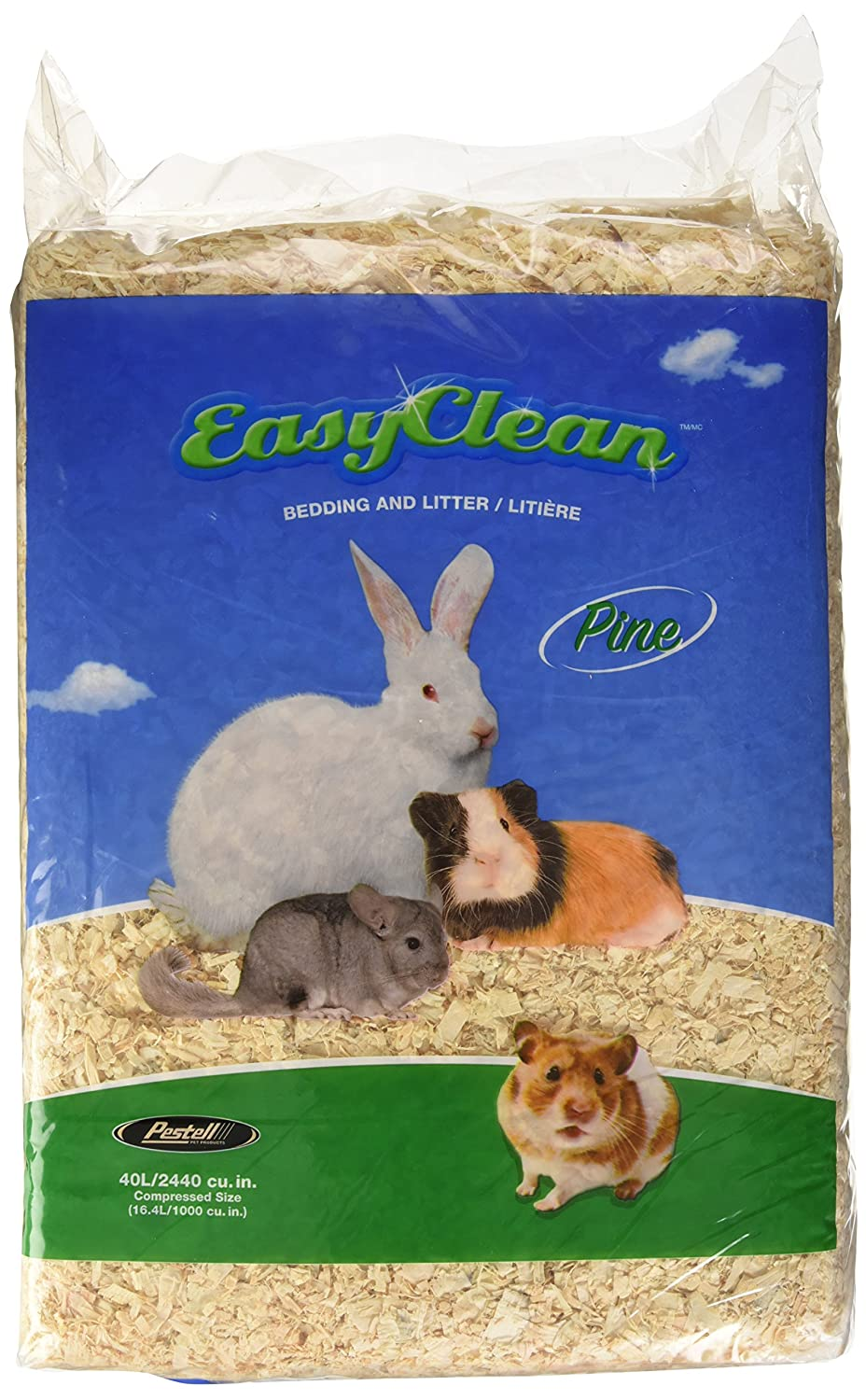 Pestell Pet Products Easy Clean Pine Bedding 40 liters