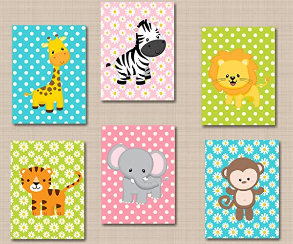 amazon com safari nursery décor jungle animals nursery wall art zoo