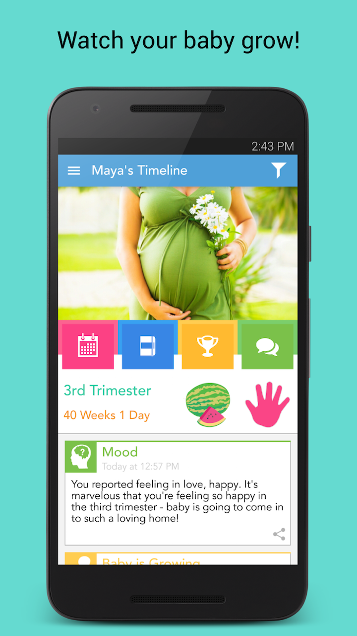 Pin On Ovia Pregnancy App Manual Guide