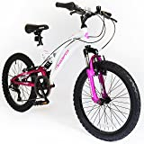 """20"""" Eclipse Girls KIDS BIKE - Childrens MFX Bicycle in PINK & WHITE Ages: 8 - 11"""