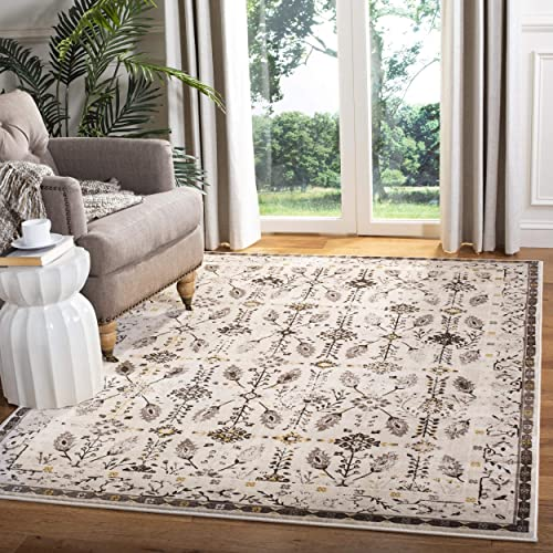 Safavieh Serenity Collection SER208F Cream and Brown Area Rug 6 x 9