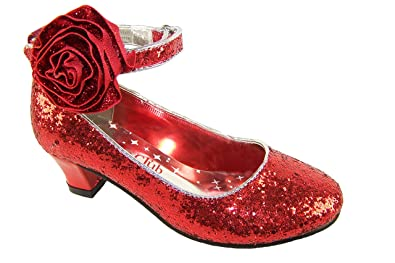 de6f7b7a5a658 Older Girls Ladies Size 6 Red Sparkly Glitter Heeled Special ...