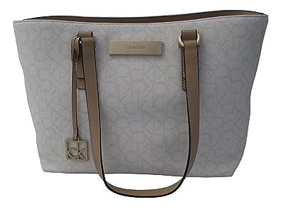 8f0b6319e614 Image Unavailable. Image not available for. Color  Calvin Klein Womens  Jordan Shopper Tote Bag Handbag Eggshell