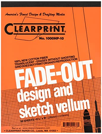 Amazoncom Clearprint Fade Out Design And Sketch Vellum Grid 85