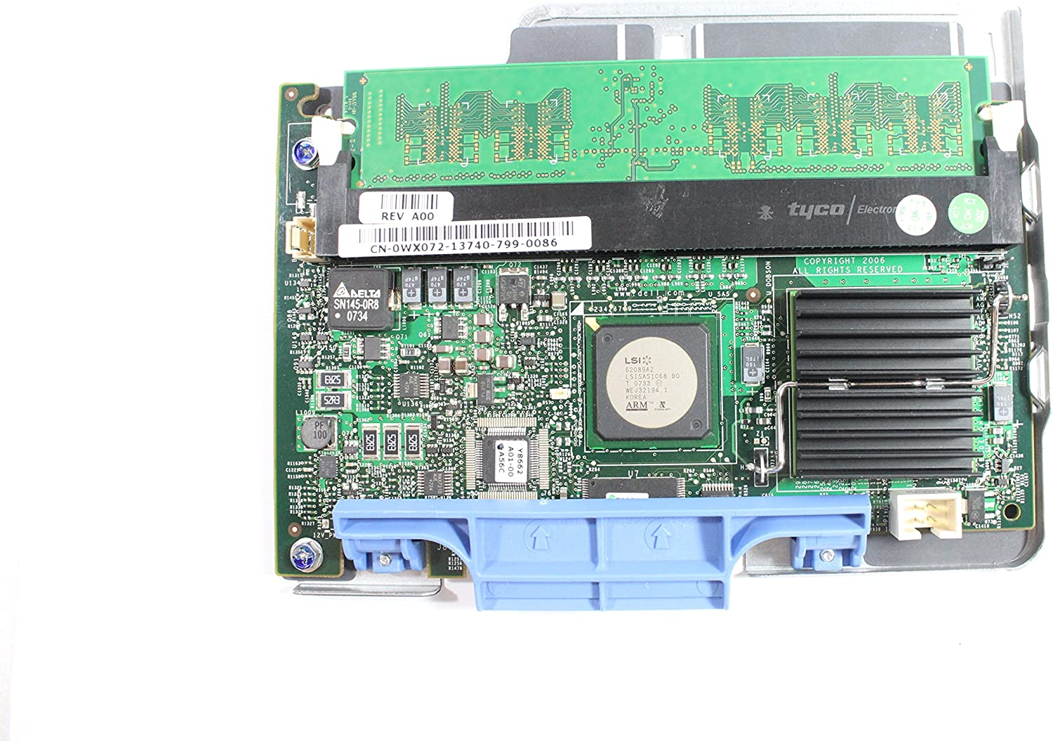Genuine WX072 NP007 Dell PowerEdge 1950 2950 PERC 5i SAS RAID Controller with 256MB Memory Compatible Part Numbers: WX072, NP007