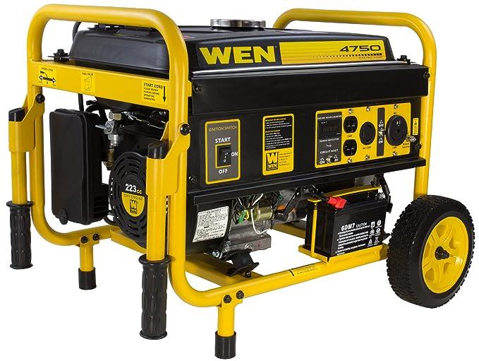 Best Portable Inverter Generator : WEN 56475 Gasoline Powered Portable Generator