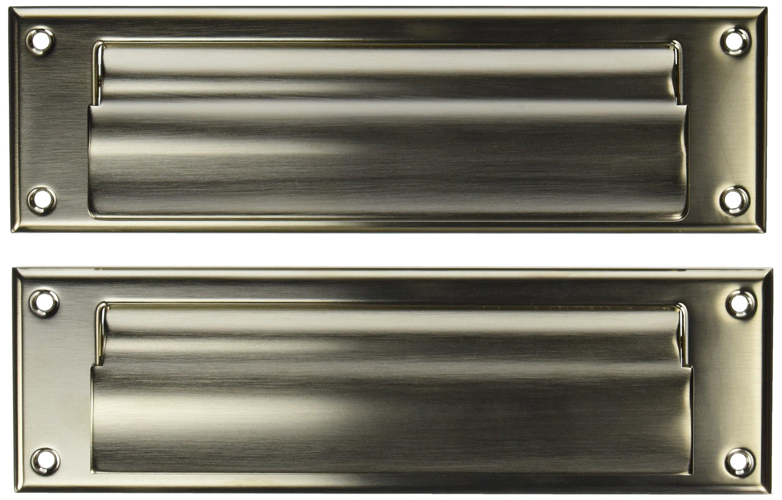Baldwin 0017056 Letter Box Plate, Lifetime Satin Nickel