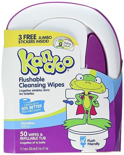 Kandoo Flushable Sensitive Toddler Wipes Tub 50ct by Kandoo