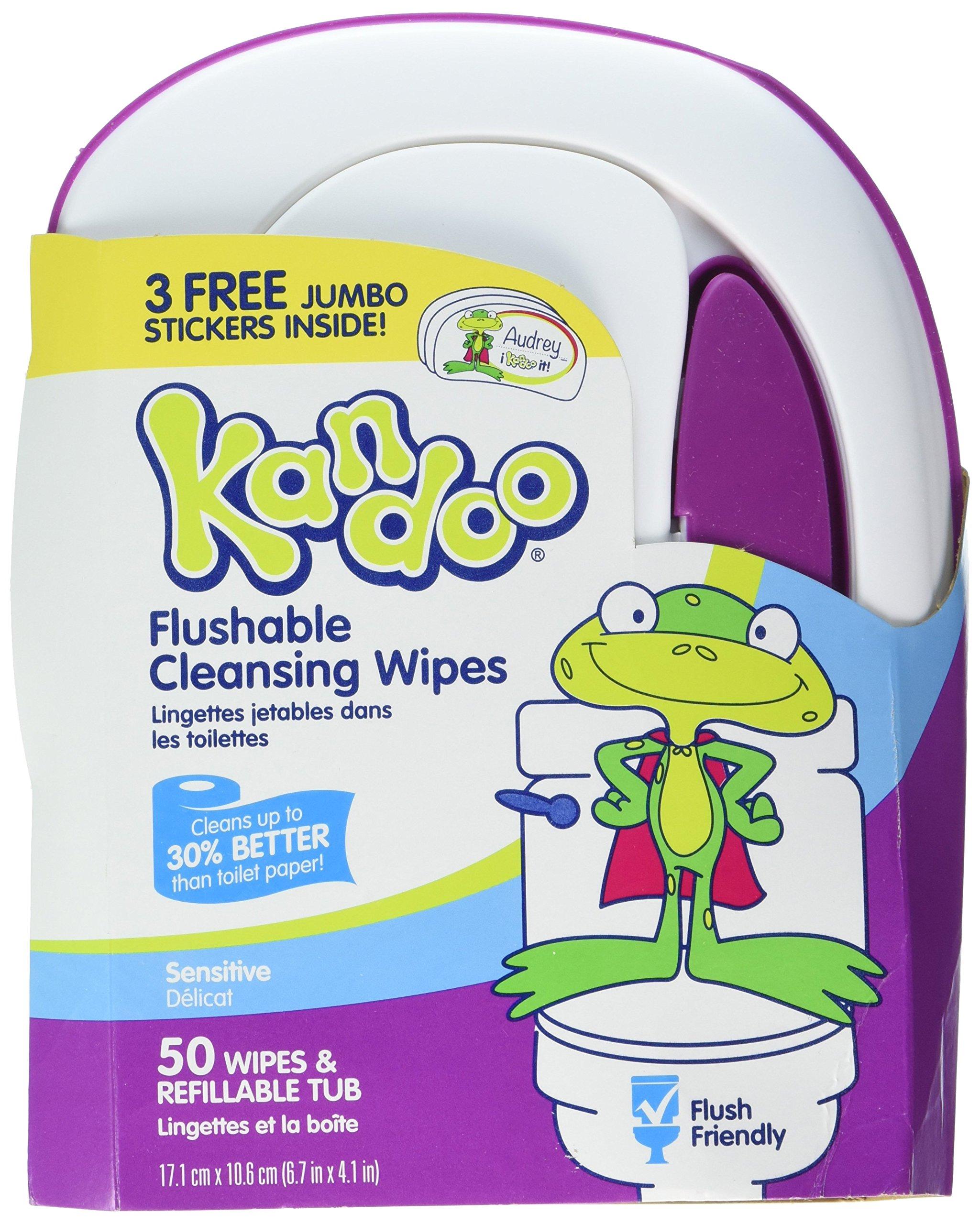Kandoo Flushable Wipes Sensitive 50 Ct (2 Pack)