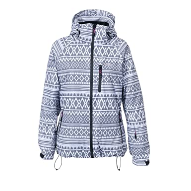 9cb1a1d116 Trespass Womens Ladies Stephy Waterproof Ski Jacket (2XL) (Black White)   Amazon.co.uk  Clothing