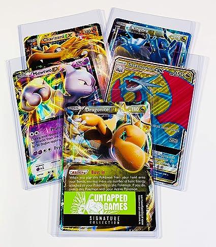 5 Oversized Jumbo Pokemon Cards In Top Loaders Ex Gx Legendary Full Art Untapped Games